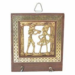 Wooden Key Hanger With Brass Work