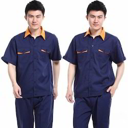 Navy Blue Collar Neck Housekeeping Uniform, Size: XS And Medium