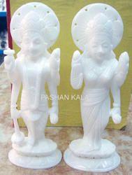 Marble Vishnu Laxmi Statues