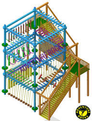 Triple Layer 4 Pole Rope Course