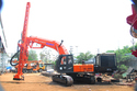Excavator Mounted Blast Hole Drilling Machine