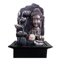 Lord Buddha Decorative Water Fountain with LED Light Effect