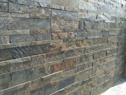 Slate Stone Elevation : Slate wall panel rustic gold slates manufacturer from