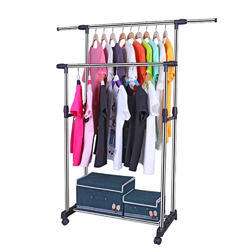 Kawachi Double Pole Telescopic Laundry Hanger Cloth Drying Stand