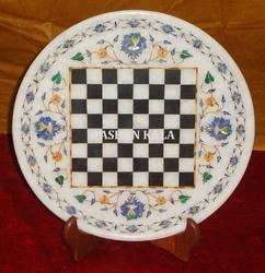 Marble Inlay Chess Plate