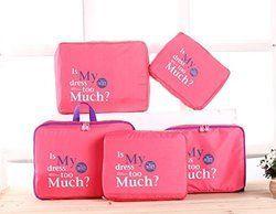 Pink Luggage Organizer
