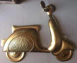 Golden Scooter Wall Decor