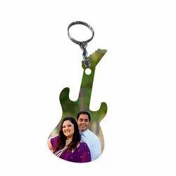 Guitar Shape Keychain