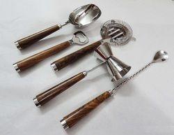 Premium Stainless Steel wooden Handle Bar Tool Set NJO-609