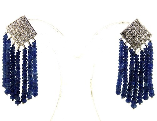 Sapphire Dangle Earring