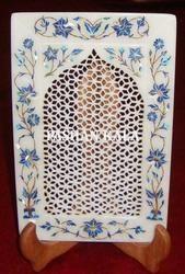 Lattice Marble Stone Decorative Plate