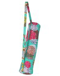 Fruit Printed Kantha Work Cotton Yoga Mat Bag