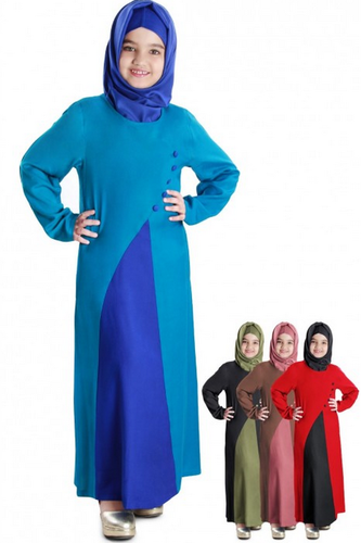 Girl Kids Abayas Shabina Dual Colour Kids Abaya Ay 565 K