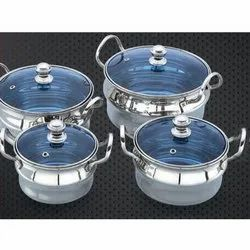 Ruby Cookware Set With Glass Lid