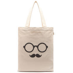 GOTS Certified Cotton Logo Printed Shopping Bags