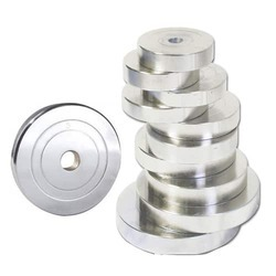 Presto Steel Chrome Weightlifting Plates(28 mm and 50 mm)