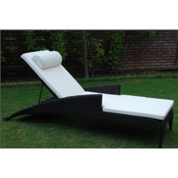 Luxury Poolside Rattan Sun Lounger