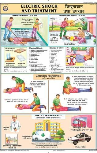 First Aid Charts Electric Shock Treatment For First Aid