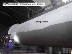 TSA Coating By High Velocity Arc Spray Process