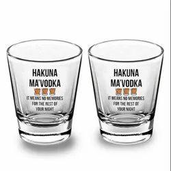 Printed Clear Shot Glass 1.5Oz