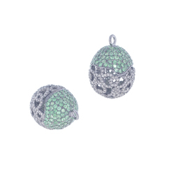 Silver Gemstone Filigree Bead Findings