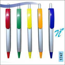 Plastic Square Silver Pen with Coloured Parts