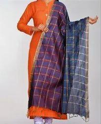 Indian Chanderi Silk Dupatta - Silk Dupatta - Indian Dupatta - Silk Dupatta