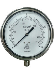 150mm SS Pressure Gauge Back/Bottom Mount