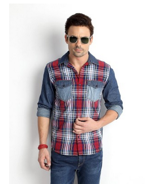 381497df0d Checkered Shirts - People Men Checkered Casual Red Shirt Manufacturer from  Mumbai