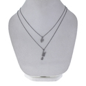 925 Silver Hate Heart Charm Necklace