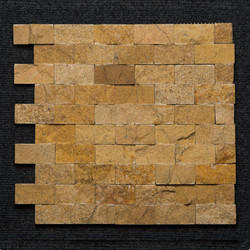 Teak Interlock Brick Pattern Mosaic