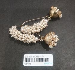 Traditional Pearl Jhumka Earrings