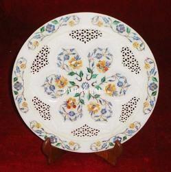 Marble Inlay Pietra Dura Plate