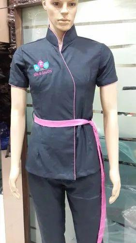 Spa uniform beauty work wear manufacturer from mumbai for Spa uniform china