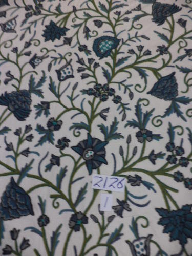 Hand embroidered bed cover
