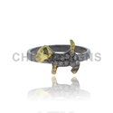 Dog Shaped Animal Diamond Mid Ring