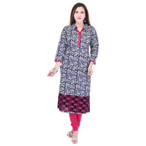 Fab Rajasthan Multi Color Printed Cotton Kurti