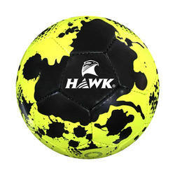 Rubberized Hawk Predator Neon Yellow Football