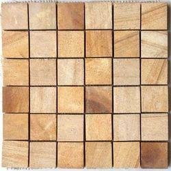 Teak Sandstone Wall Mosaic Tile / Wall Cladding Tiles