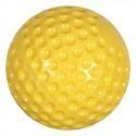PU Dimple Cricket Ball- Yellow