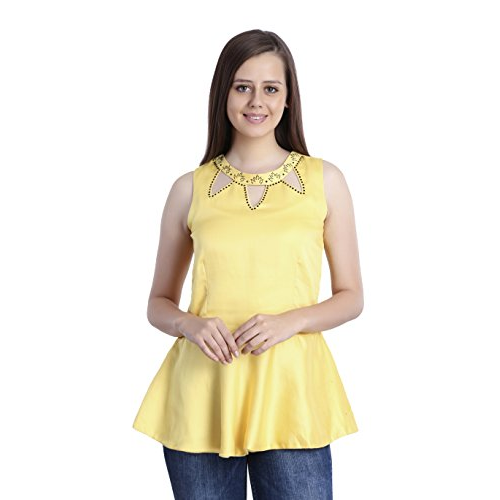 e209b3a6f1 Designer Top - Cotton Linen Satin Peplum Top Wholesaler from New Delhi