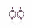 Ruby Gemstone Snake Earrings