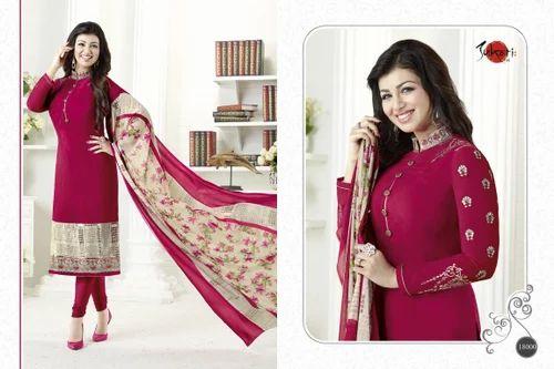 Crepe Silky Salwar Suit Fabric