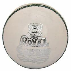 BDM Royal Crown Cricket White Leather Ball