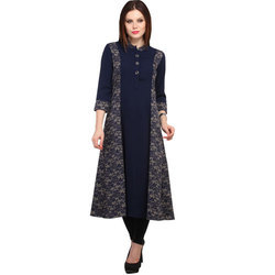 Cottinfab Printed Women's A-line Kurta