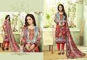 Printed Pashmina Unstitched Suit
