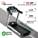 POWERMAX TDA 150 Auto Lubricating Treadmill with Auto Incline