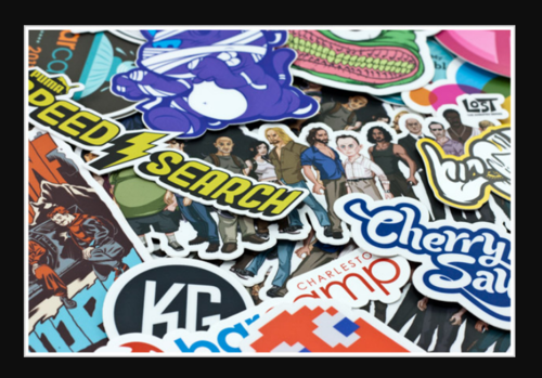 Printed stickers die cut stickers manufacturer from new delhi
