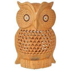 Wooden Undercut Carving Owl