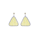 925 Silver Yellow Beads Earrings